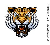 cartoon tiger face vector... | Shutterstock .eps vector #1217100313