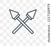 spear vector outline icon... | Shutterstock .eps vector #1217100979
