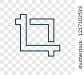 crop concept vector linear icon ...   Shutterstock .eps vector #1217102593