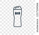 pint of beer concept vector... | Shutterstock .eps vector #1217104366