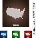 map of usa | Shutterstock .eps vector #1217110933