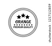 orange premium quality emblem ... | Shutterstock .eps vector #1217112859