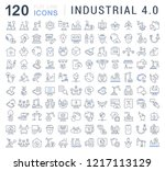 set of vector line icons of... | Shutterstock .eps vector #1217113129