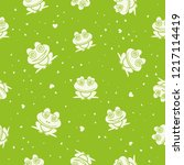 frogs seamless background.... | Shutterstock .eps vector #1217114419