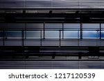 windows in corrugated metal... | Shutterstock . vector #1217120539