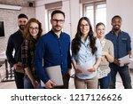portrait of successful business ... | Shutterstock . vector #1217126626