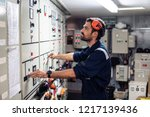 marine engineer officer in... | Shutterstock . vector #1217139436