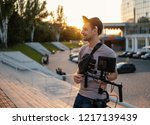 videographer with video... | Shutterstock . vector #1217139439