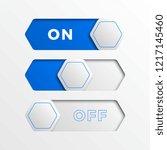 blue hexagonal switch interface ...