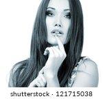 beauty woman portrait of teen... | Shutterstock . vector #121715038