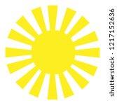 yellow sun. trendy flat style...