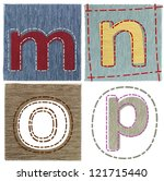 textile letters collection | Shutterstock . vector #121715440