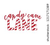 candy cane lane | Shutterstock .eps vector #1217171389