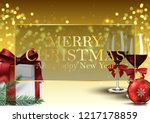 christmas background with gifts ... | Shutterstock .eps vector #1217178859