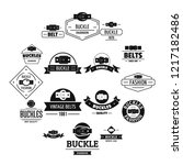 belt buckle logo icons set.... | Shutterstock . vector #1217182486