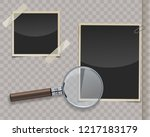 retro photo frames with...   Shutterstock .eps vector #1217183179