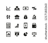 finance icon set | Shutterstock .eps vector #1217183263