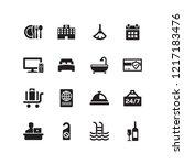 hotel icon set | Shutterstock .eps vector #1217183476
