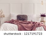 furry pillow in the middle of... | Shutterstock . vector #1217191723