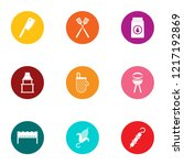 cookout icons set. flat set of... | Shutterstock . vector #1217192869