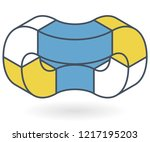 abstract curved vector shape... | Shutterstock .eps vector #1217195203