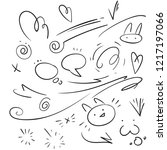 vector hand drawn collection of ... | Shutterstock .eps vector #1217197066