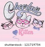 Stock vector cute kitten 121719754