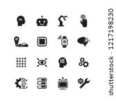 artifical intelligence icon set | Shutterstock .eps vector #1217198230