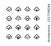 cloud computing icon set | Shutterstock .eps vector #1217198266