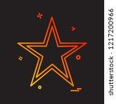 star icon design vector  | Shutterstock .eps vector #1217200966