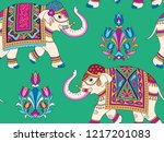 indian style ornament  with... | Shutterstock .eps vector #1217201083