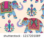 indian style ornament  with... | Shutterstock .eps vector #1217201089