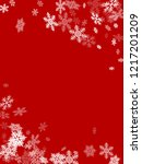 winter snowflakes border... | Shutterstock .eps vector #1217201209