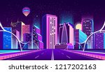 vector concept background with... | Shutterstock .eps vector #1217202163