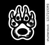 print of paws of predators.   Shutterstock .eps vector #1217215393