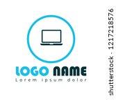 laptop icon  pc logo koncept....