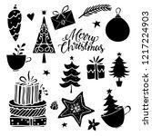 christmas  new year design... | Shutterstock .eps vector #1217224903
