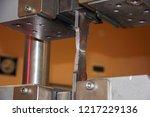 tensile test with welded steel... | Shutterstock . vector #1217229136