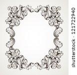 vector vintage border  frame... | Shutterstock .eps vector #121722940