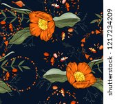 botanical motifs. isolated... | Shutterstock .eps vector #1217234209