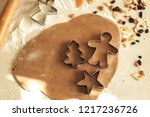new year's cookies. cover ... | Shutterstock . vector #1217236726
