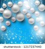 christmas background with blue... | Shutterstock .eps vector #1217237440