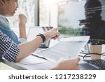 programmers cooperating at... | Shutterstock . vector #1217238229