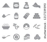 sugar icons. gray flat design.... | Shutterstock .eps vector #1217239393