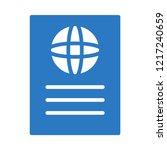 passport   id  ticket   | Shutterstock .eps vector #1217240659