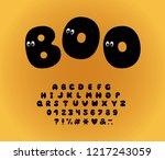 alphabet ghost design  cartoon... | Shutterstock .eps vector #1217243059