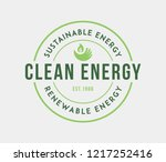 bio sustainable energy is a...   Shutterstock .eps vector #1217252416