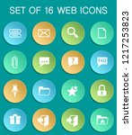 forum interface web icons on...   Shutterstock .eps vector #1217253823