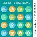 e commerce interface web icons... | Shutterstock .eps vector #1217253826