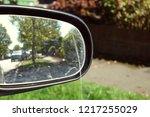 Closeup Car's Wing Mirror On...